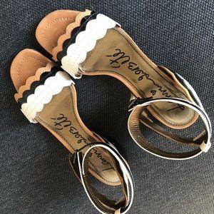 Lanvin Color Blocked Designer Leather Sandals Sz 7